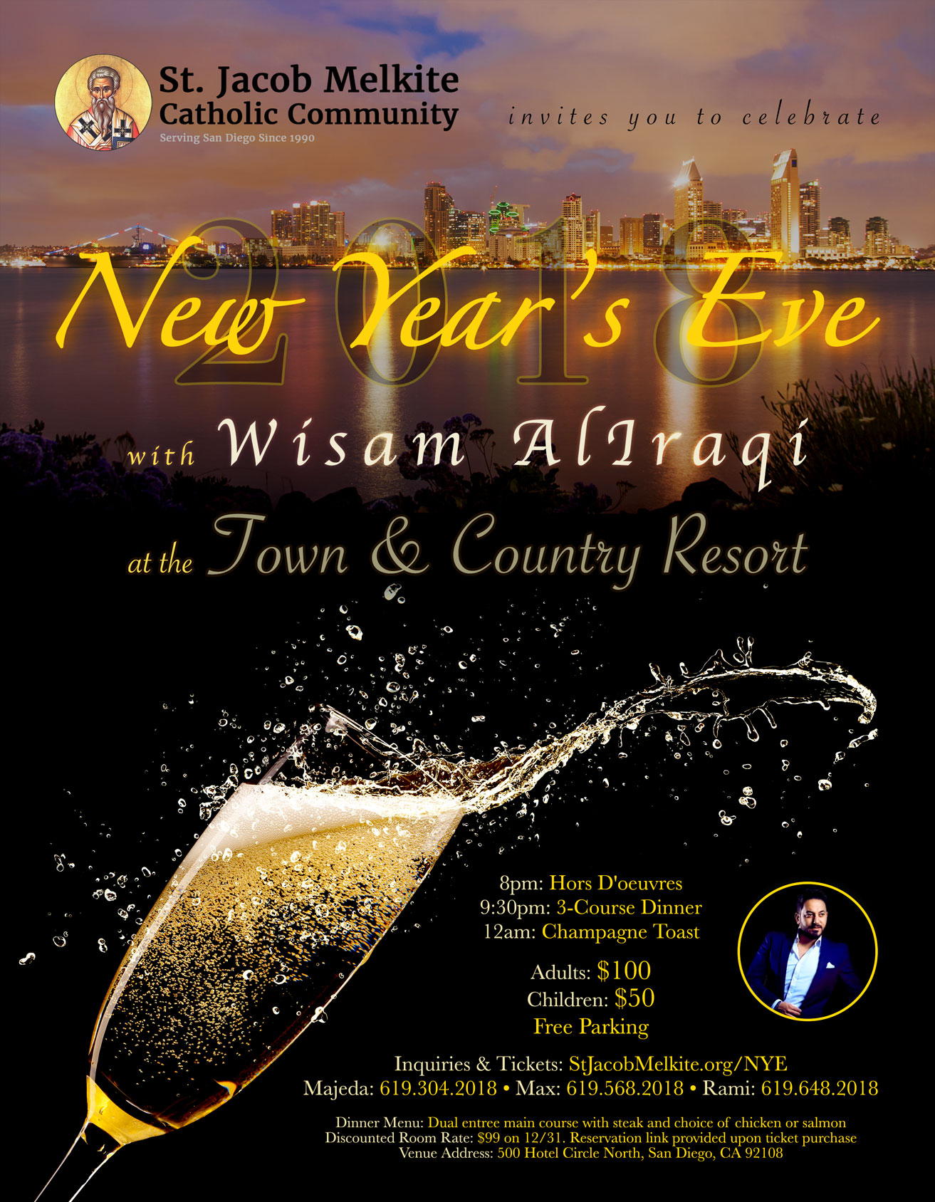 St. Jacob Melkite New Year's Eve 2018